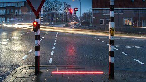 Experimental Dutch traffic crossing