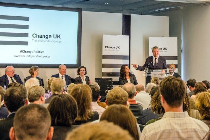 Change UK event
