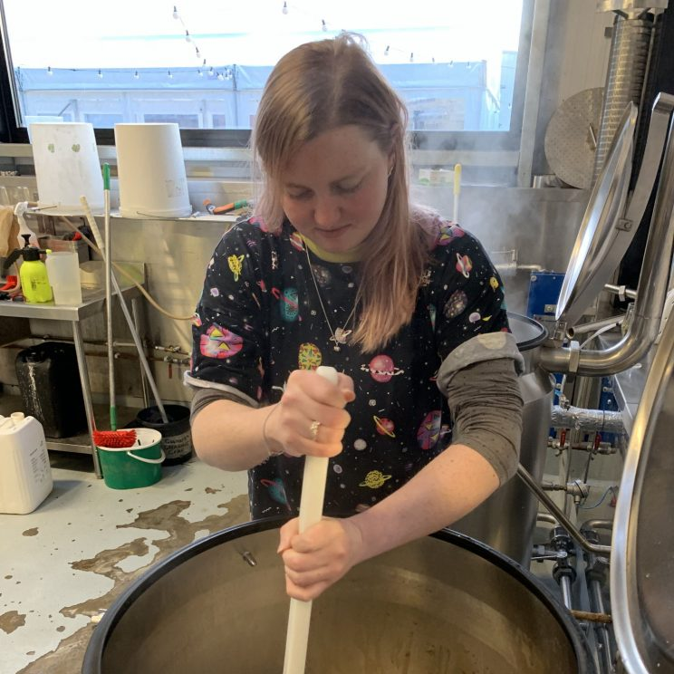 Lucy stirring