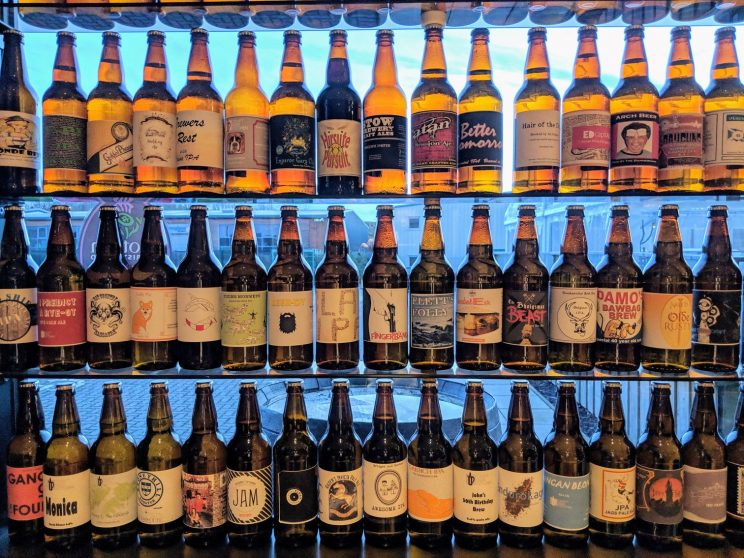 Other people's beers on display