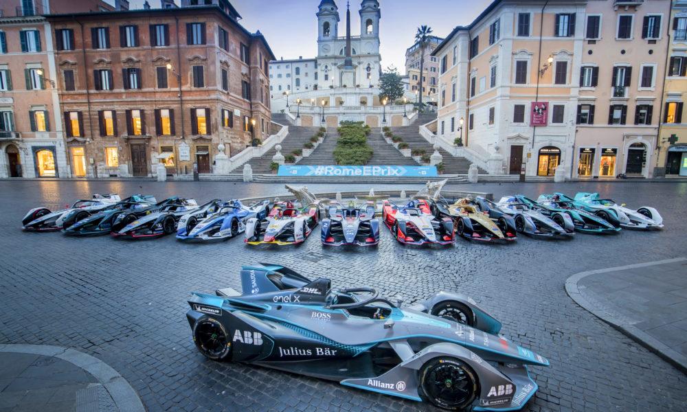Formula E cars