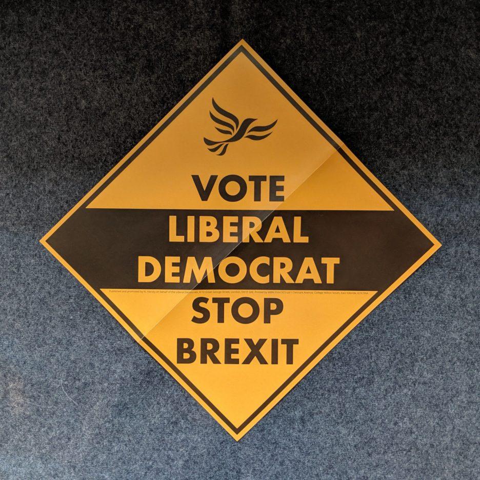 "Poster: ""Vote Liberal Democrat — Stop Brexit"""