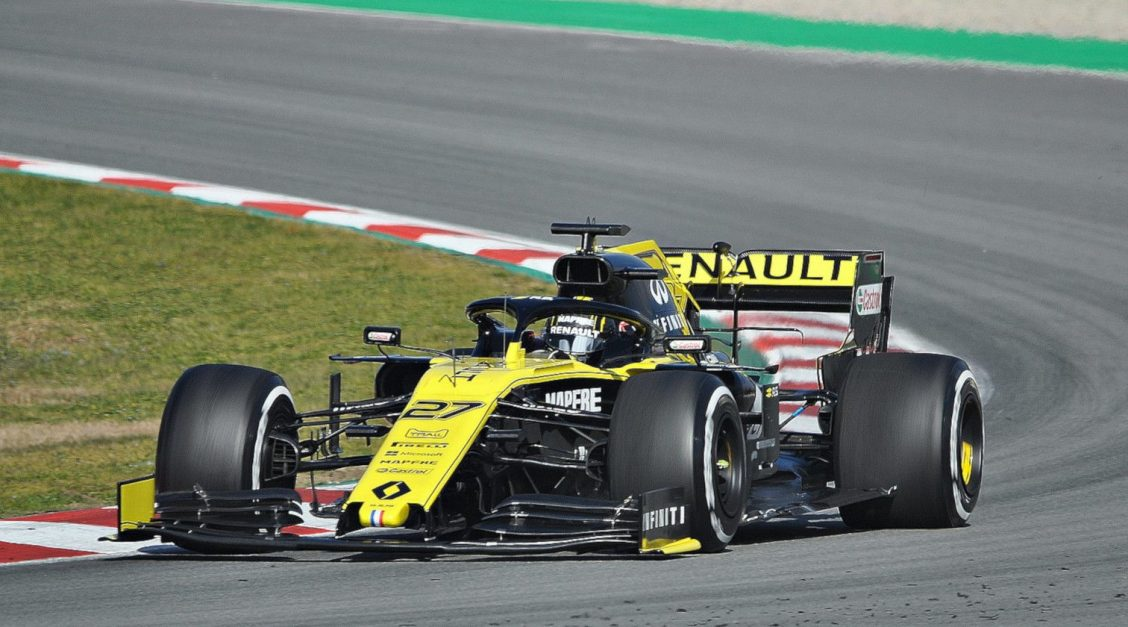 Nico Hülkenberg testing his Renault F1 car