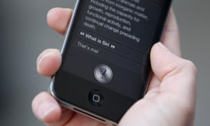 Apple device with Siri activated