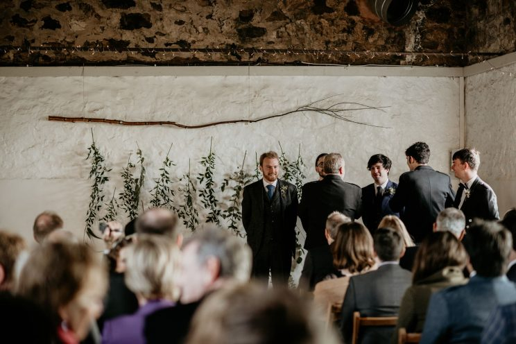 Me, the groomsmen and Stewart Struthers the celebrant preparing for the ceremony