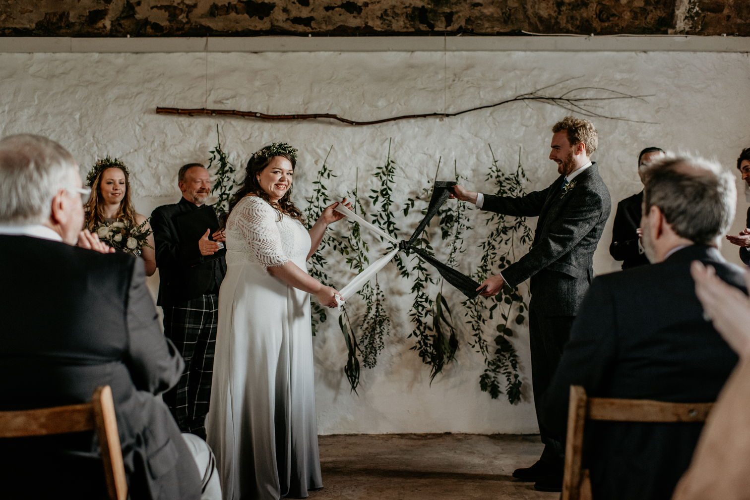 Alex and me 'tying the knot' with the hand fasting ceremony