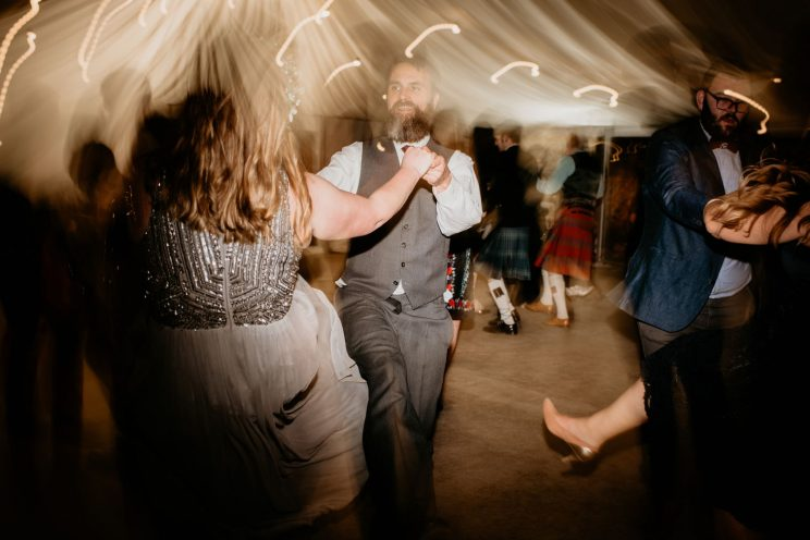 Cat and Eurig ceilidh dancing