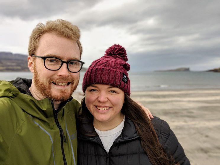 Me and Alex on An Corran beach