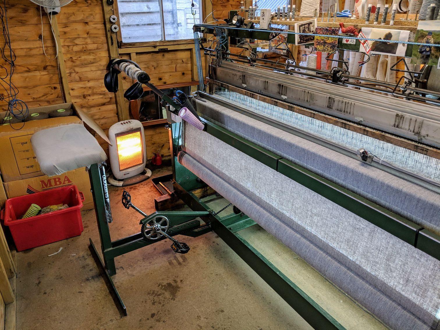 Skye Weavers' weaving contraption