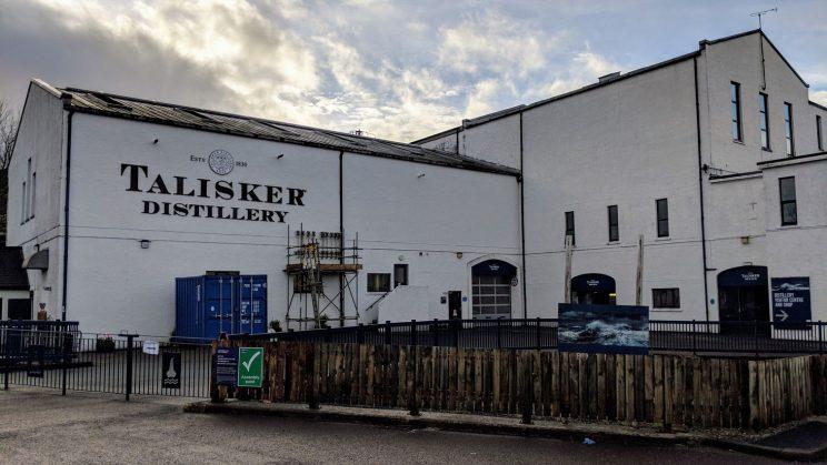 Exterior of Talisker Distillery
