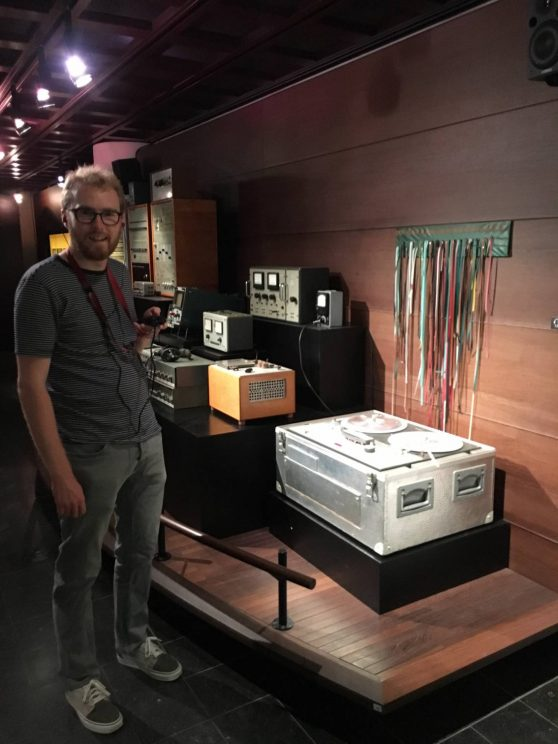 Me posing with equipment from the IPEM studio