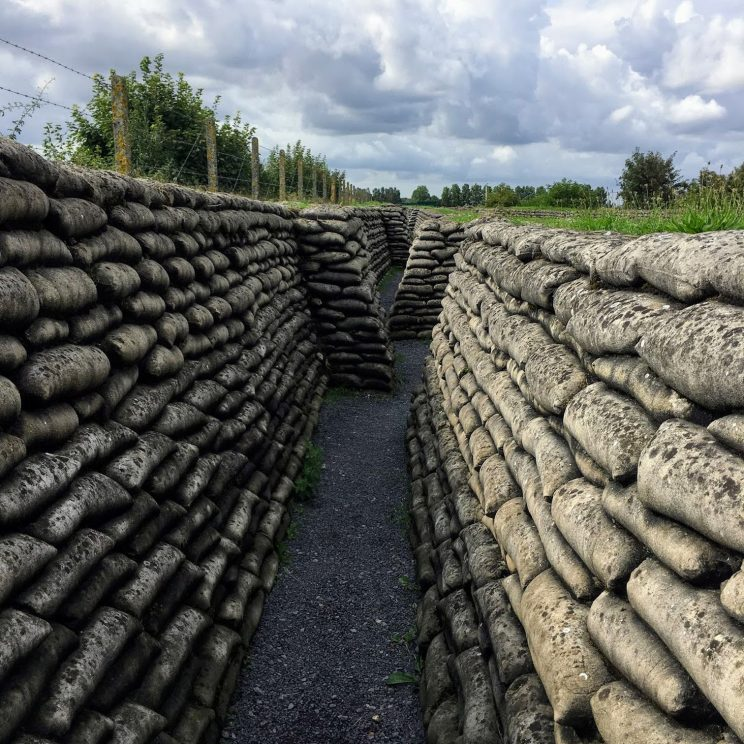 Preserved concrete trenches