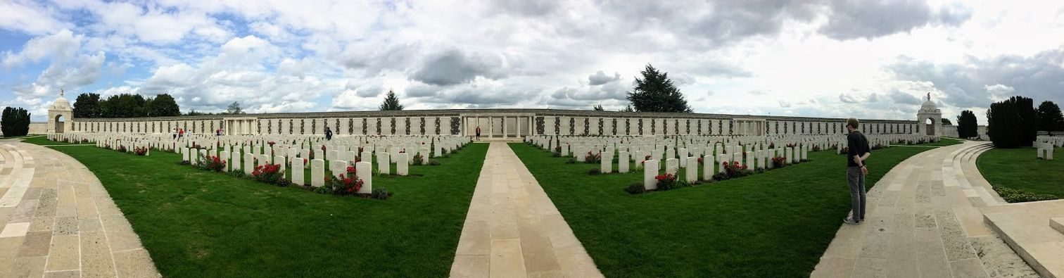Panorama of Tyne Cot Cemetery