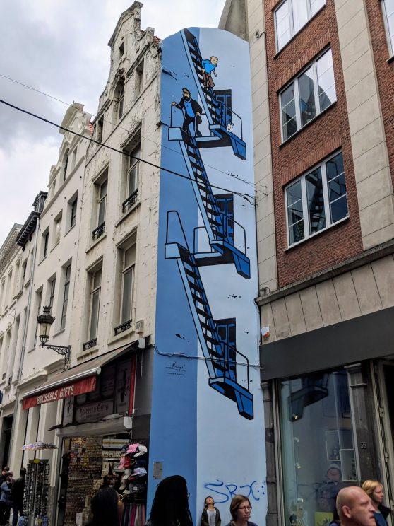 Tintin street art