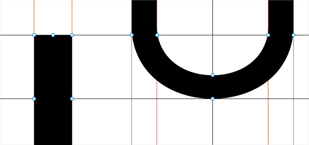 Inter typeface detail