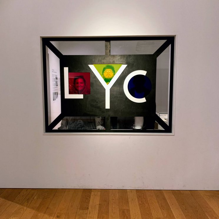 'LYC' sign with Lucy, me and Richard behind it