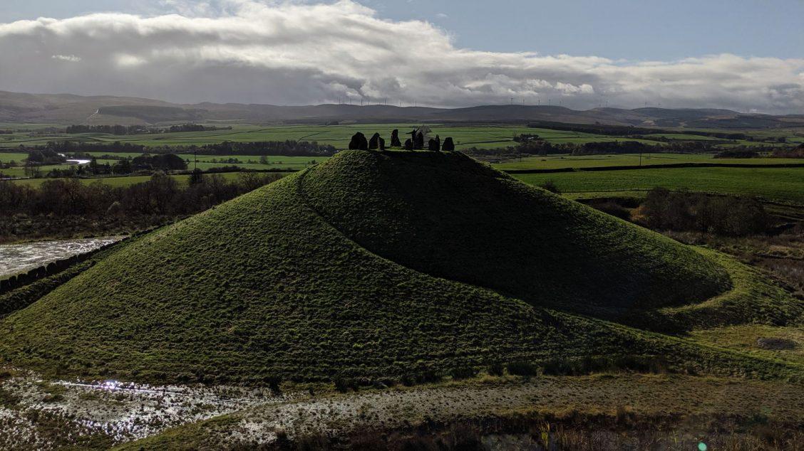 Life mound representing Andromeda galaxy