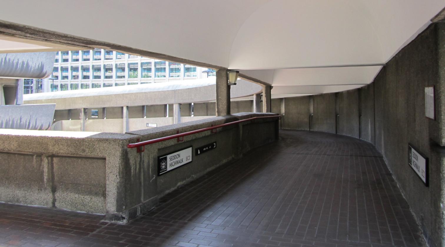 Seddon Highwalk in the Barbican Estate