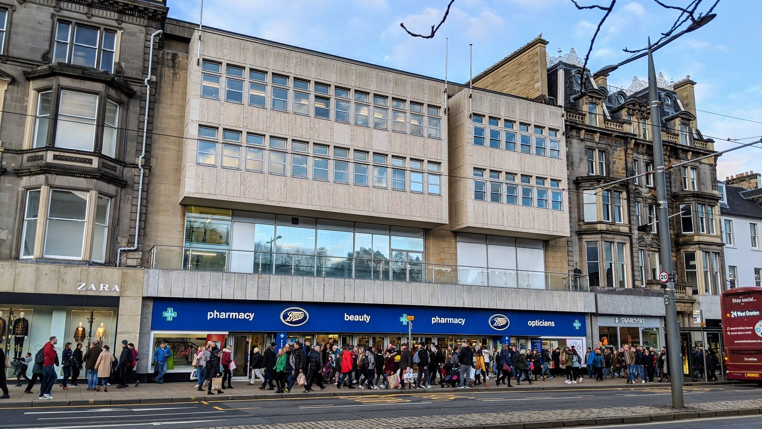 Boots in Princes Street, including part of the proposed first-level walkway