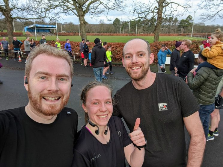 Me, Eleanor and Ross after Kirkcaldy parkrun