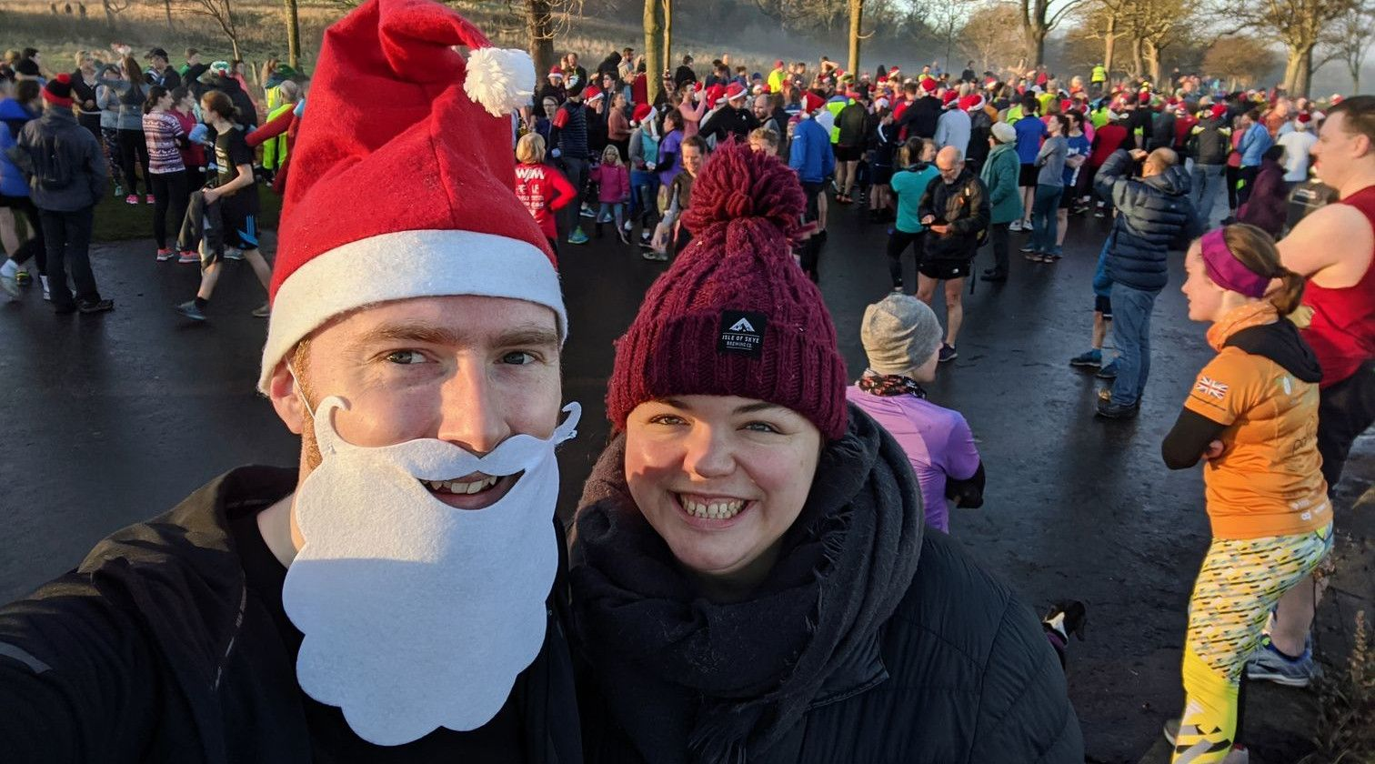 Me and Alex at Christmas Day parkrun