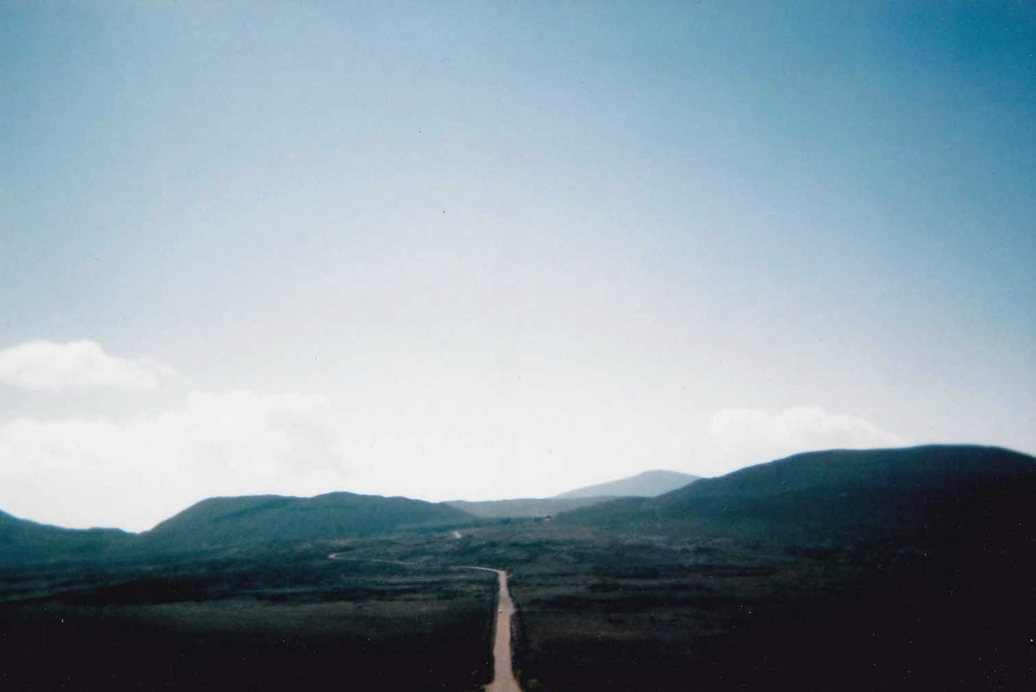 The road to Piton de la Fournaise (taken on the disposable camera)
