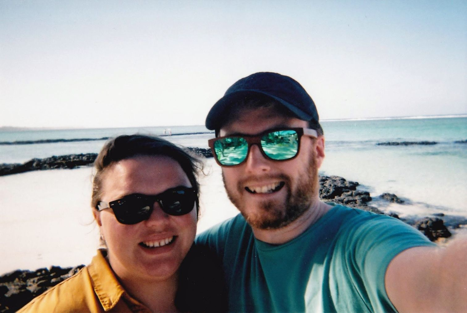 Alex and me on the beach (taken on the disposable camera)