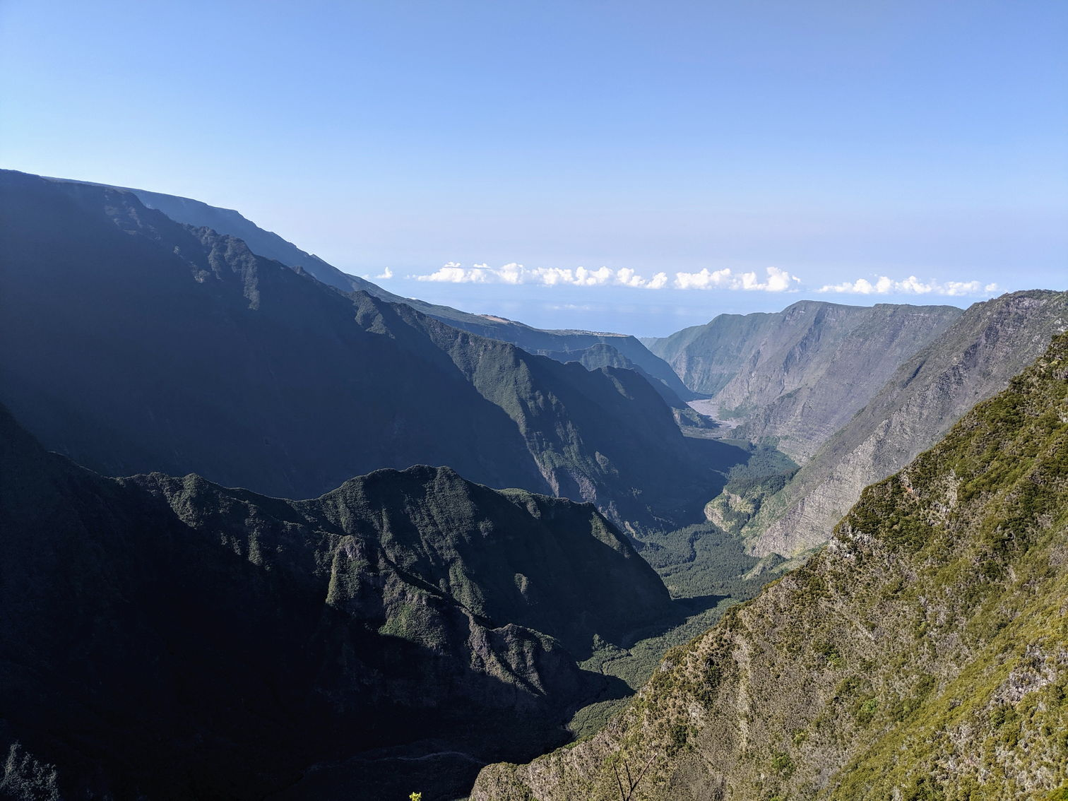 View of the valley near Piton de la Fournaise