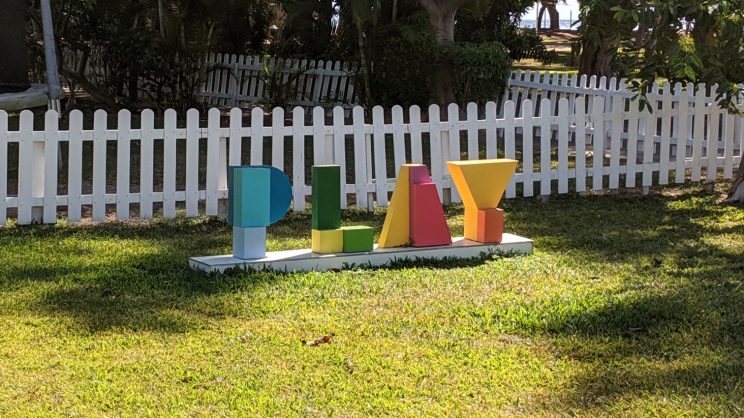 "Letter spelling out ""play"""