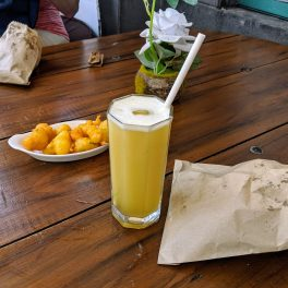 Drink and snacks at Port Louis