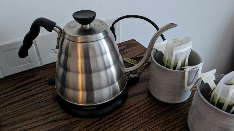 Kettle and mugs