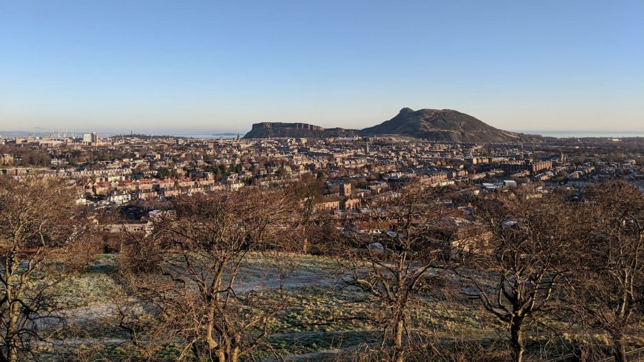 View of Edinburgh including Arthur's Seat