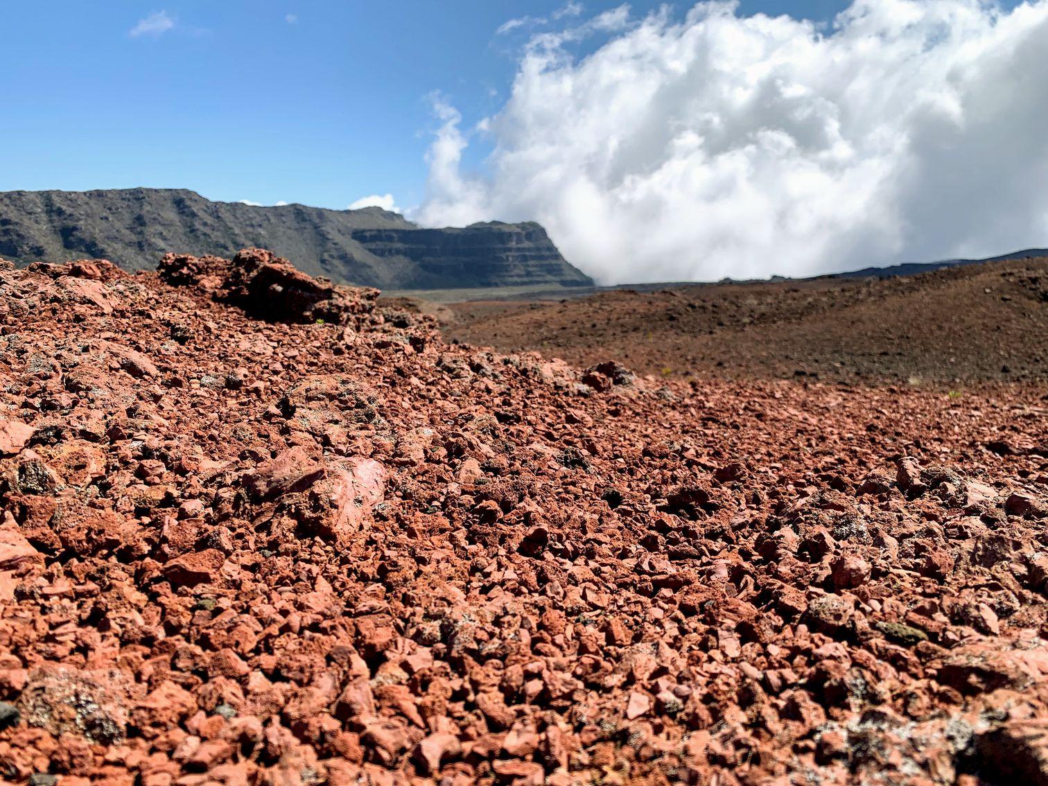Martian landscape near Piton de la Fournaise