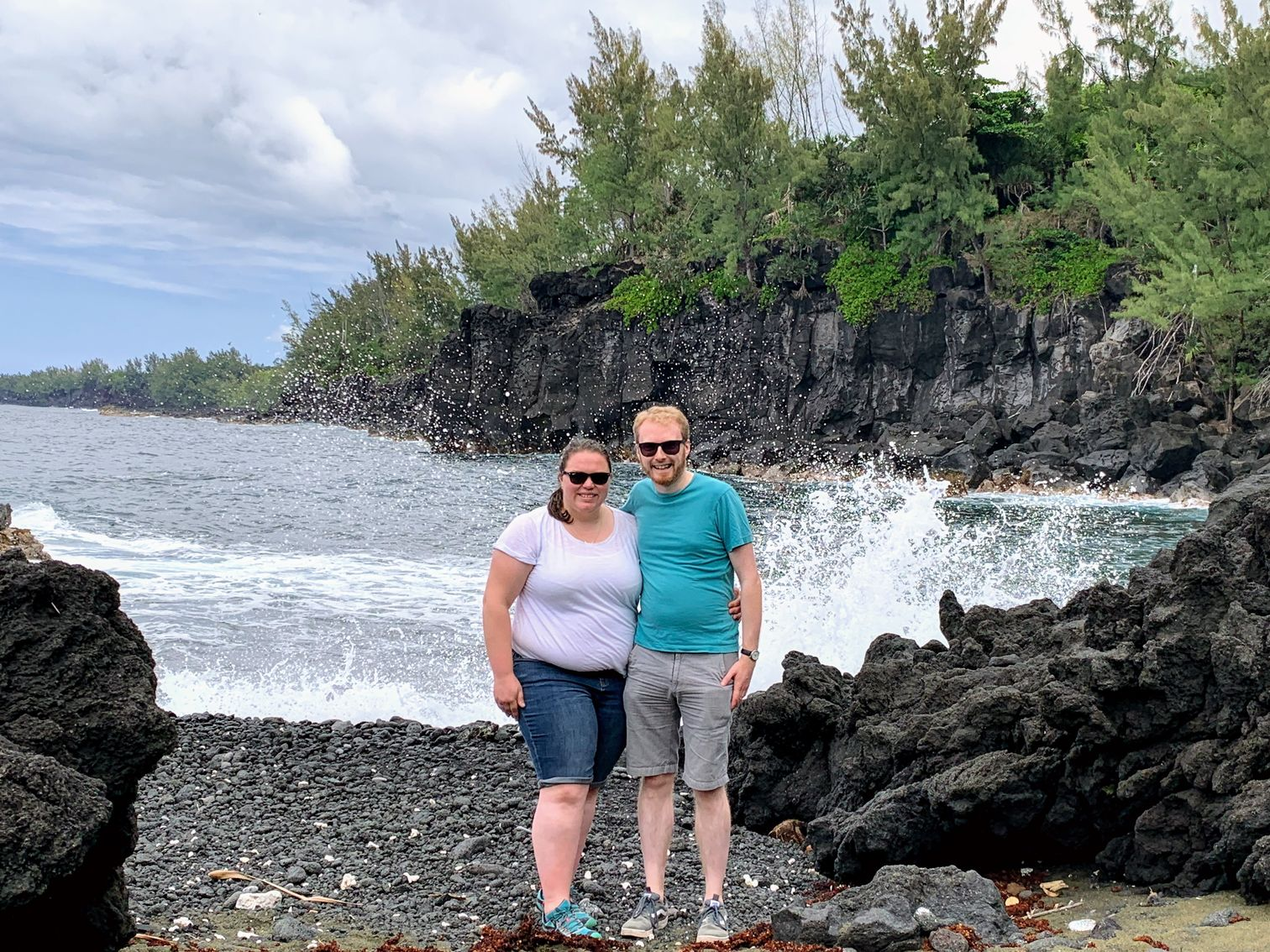 Alex and me at the lava beach