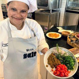 Elzie posing with ingredients