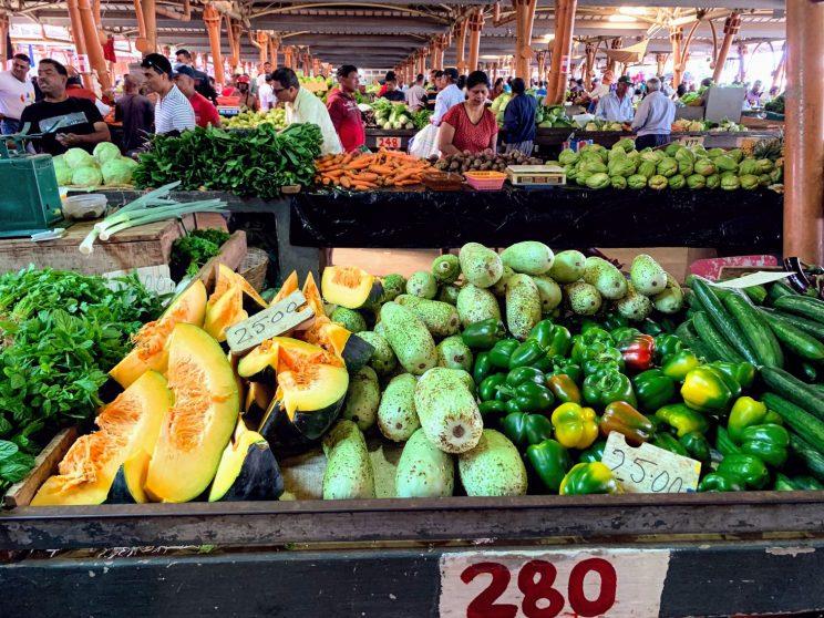 Fruit on sale in Flacq market