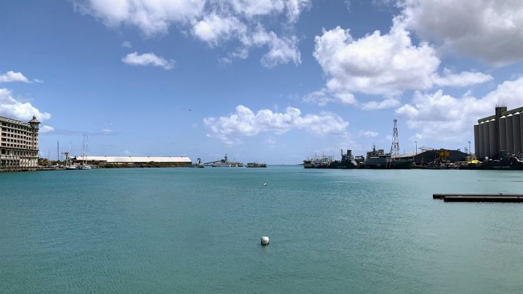 The harbour at Port Louis