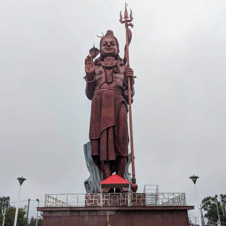 Large statue of a Hindu deity