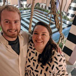 Me and Alex in the atrium
