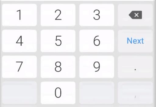 Numeric keypad interface