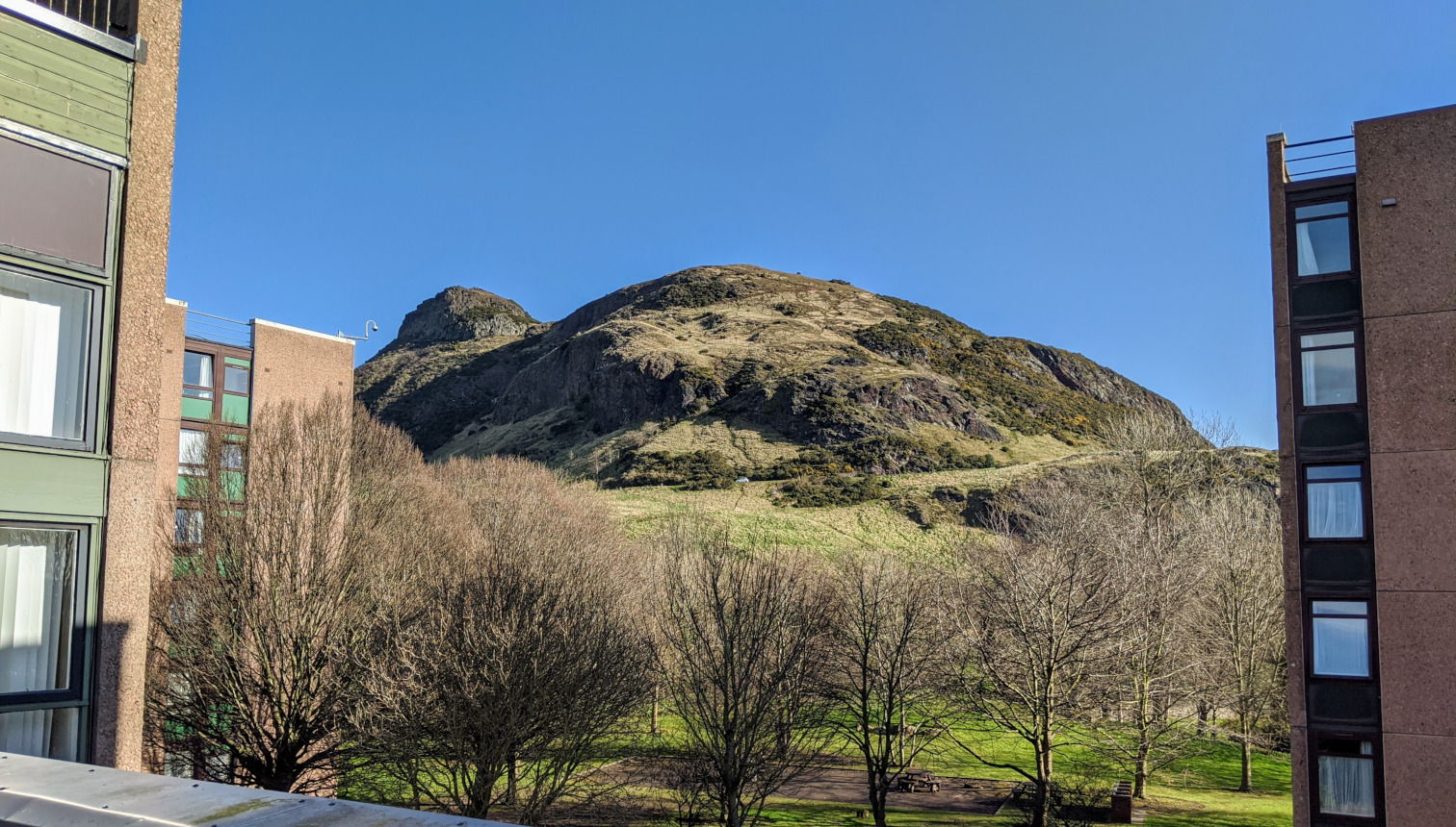 View of Arthur's Seat from the conference venue