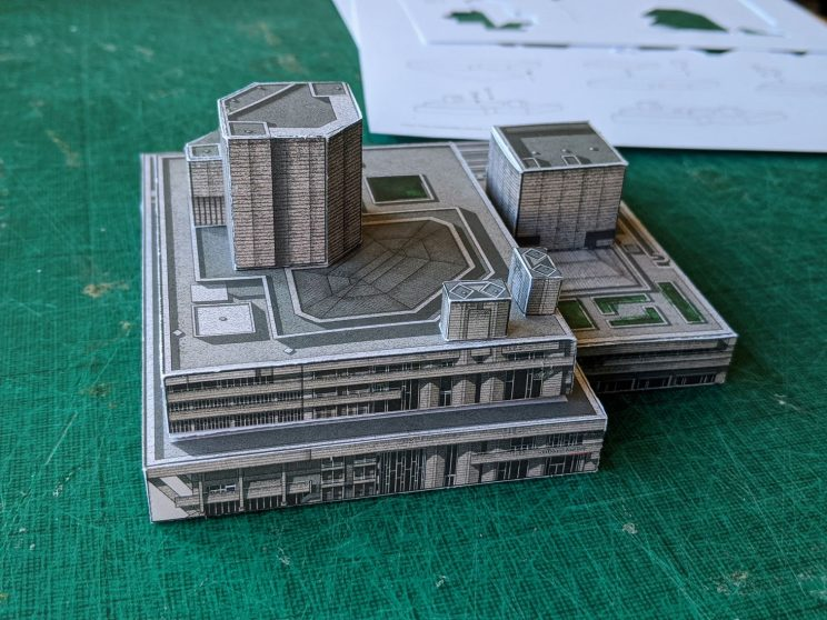 Paper model of the National Theatre