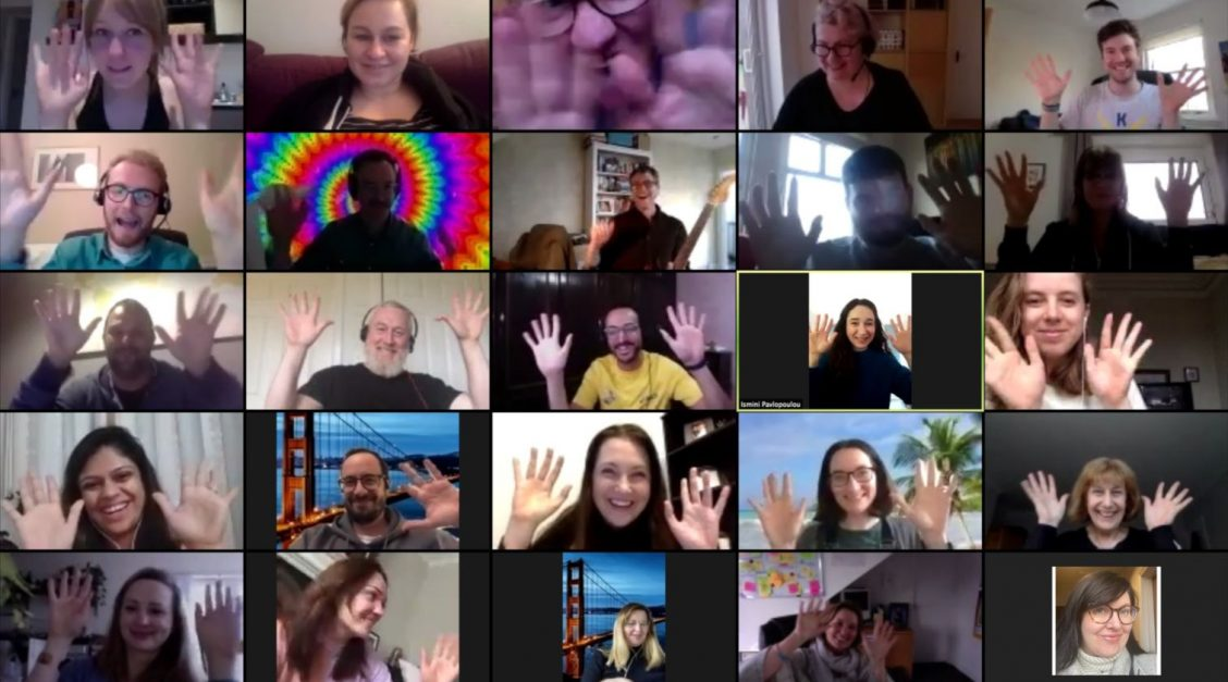 Screenshot of the remotely-held UX Glasgow meetup