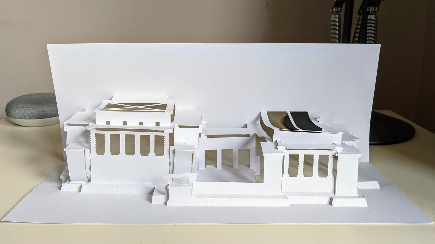 Kirigami model of Imperial Hotel