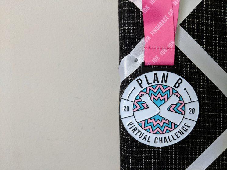 Plan B 2020 Virtual Challenge medal
