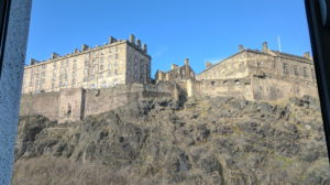 View of Edinburgh Castle from our office