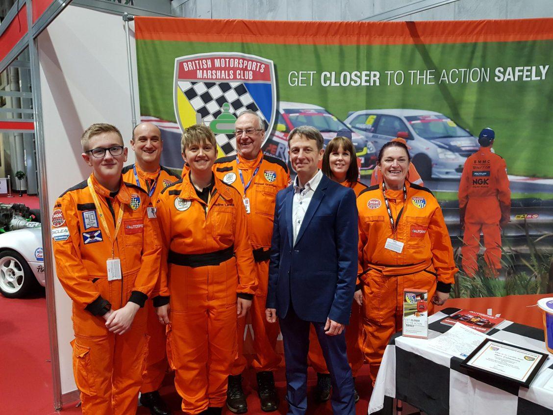 Ben Edwards with marshals