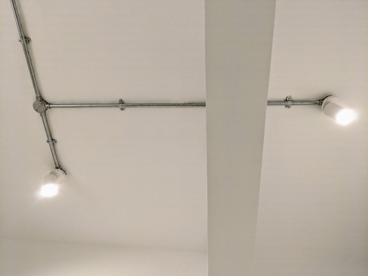 Lighting ducts on the study ceiling