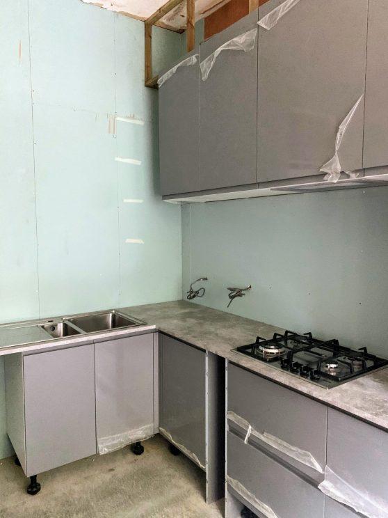 Kitchen units installed