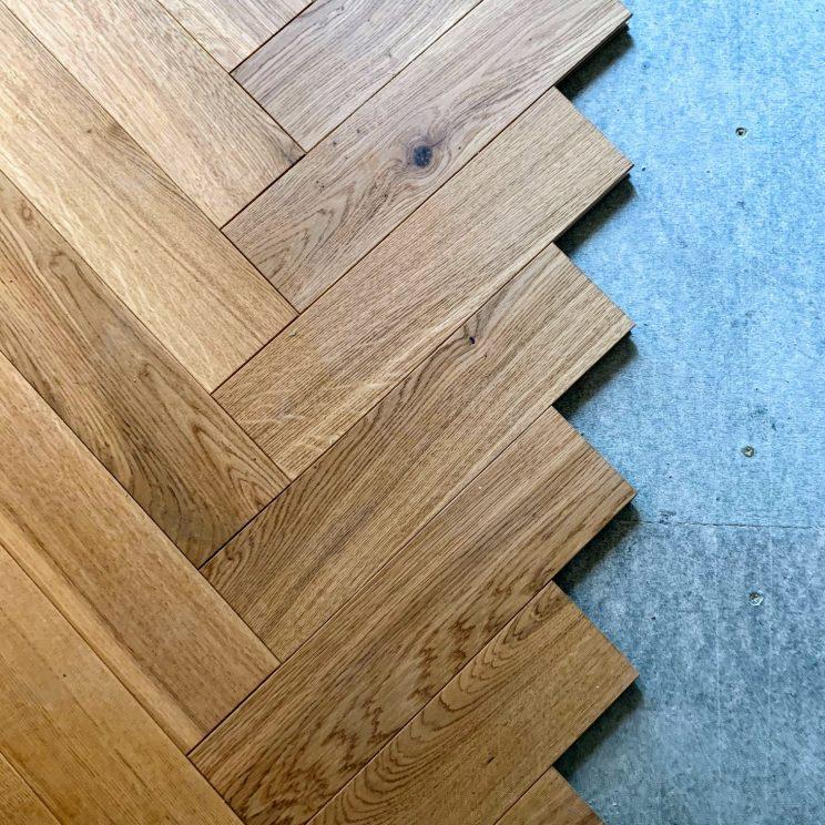 New kitchen floor partially installed